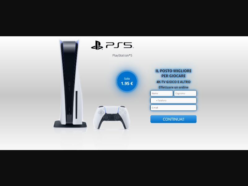 Win Sony PlayStation 5 [IT] - CC Submit