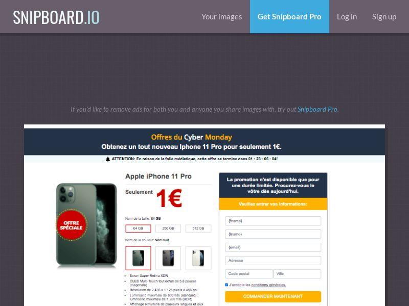 MyeBooky - iPhone 11 Pro LP22 Amazon FR - CC Submit