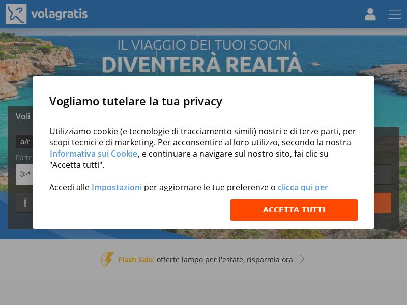 Volagratis - IT (IT), [CPS], Transport and Travel, Accommodation, Tours, Transport, Sell, holiday