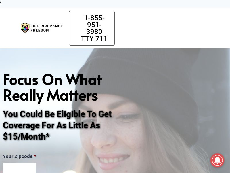 Life Insurance Freedom - Life - Zip Submit - US