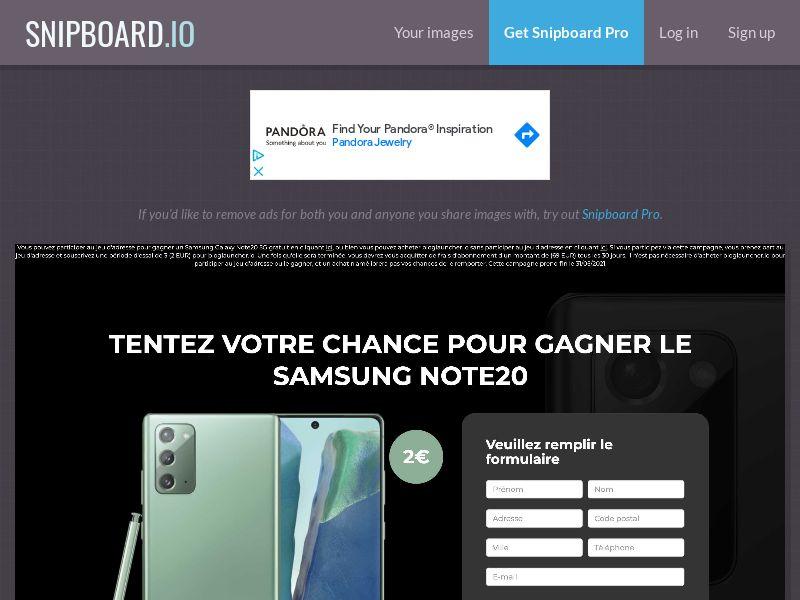 40794 - FR - BigEntry - Samsung Galaxy Note20 - CC submit (GASMOBI EXCLUSIVE)