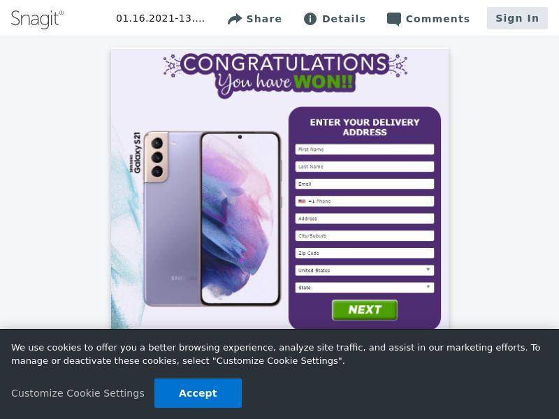 Samsung Galaxy S21 (Purple / Blue)   US