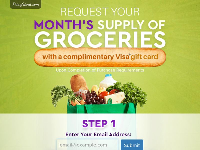 Grocery Gift Card - Email Submit - Incent