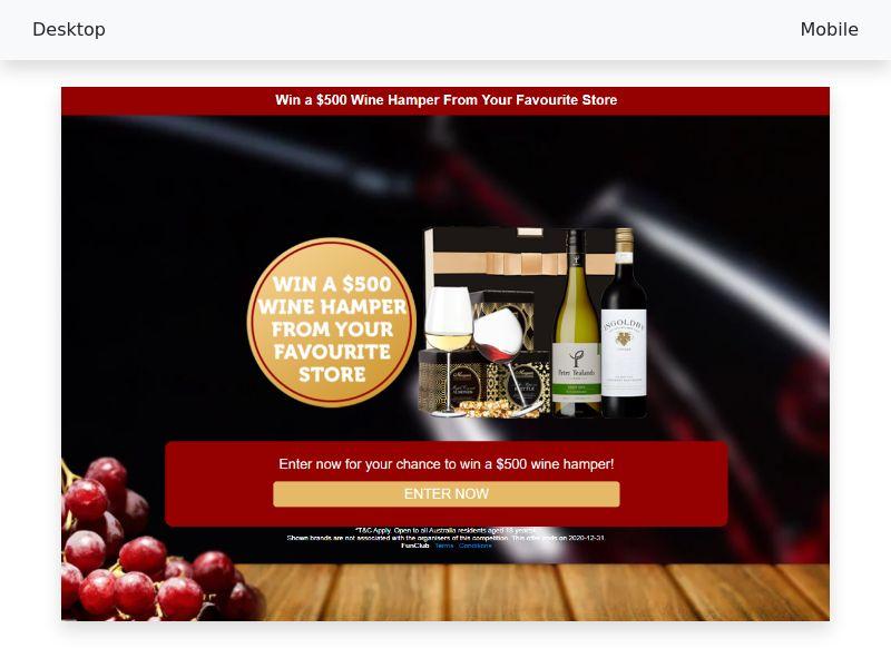 $500 Wine Hamper - CPL/SOI - [AU]