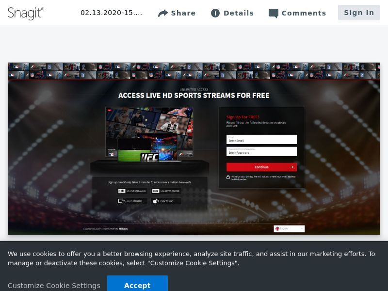 iStreamNow Sports Signup - Mobile & Desktop - See Countries on Details - VOD, CC trial - Incent OK