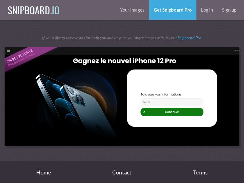 39402 - FR - CONSUMERSCONNECT - Win an iPhone 12 Pro - SOI