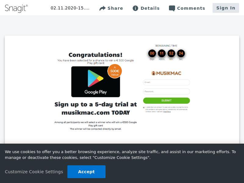 €500 Google Play Gift Card | AT