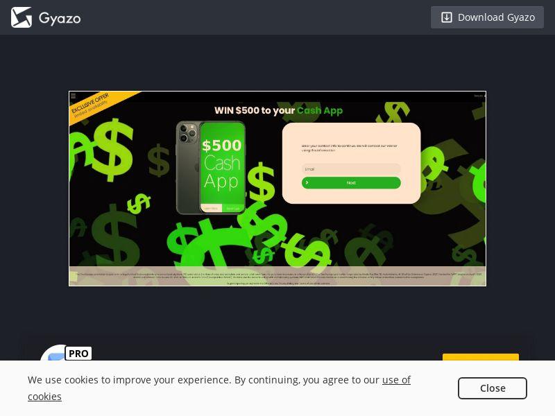 YouSweeps CashApp $500 US | SOI CPL