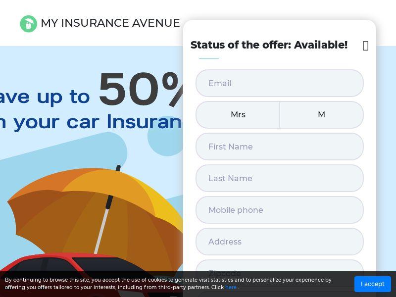 50% car insurance Sweep US