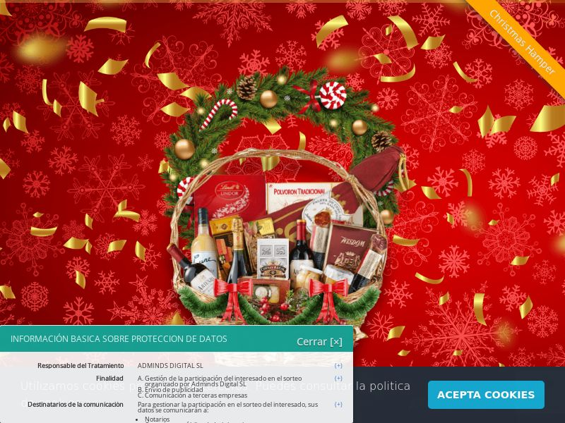Christmas Hamper - ES (ES), [CPL], Lotteries and Contests, Single Opt-In, paypal, survey, gift, gift card, free, amazon