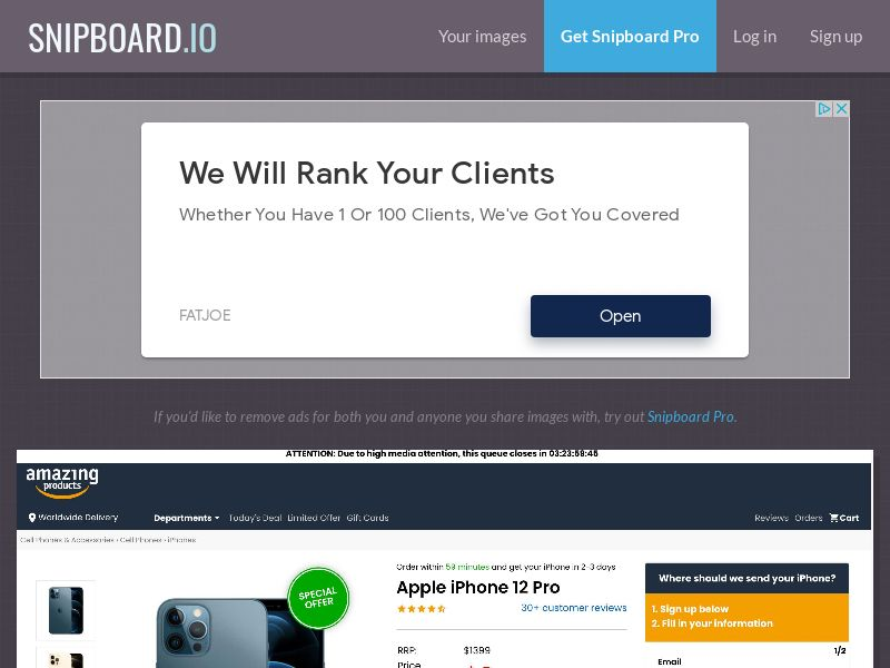 41155 - IT - SmartTest - Amazing - Apple iPhone 12 - CC submit