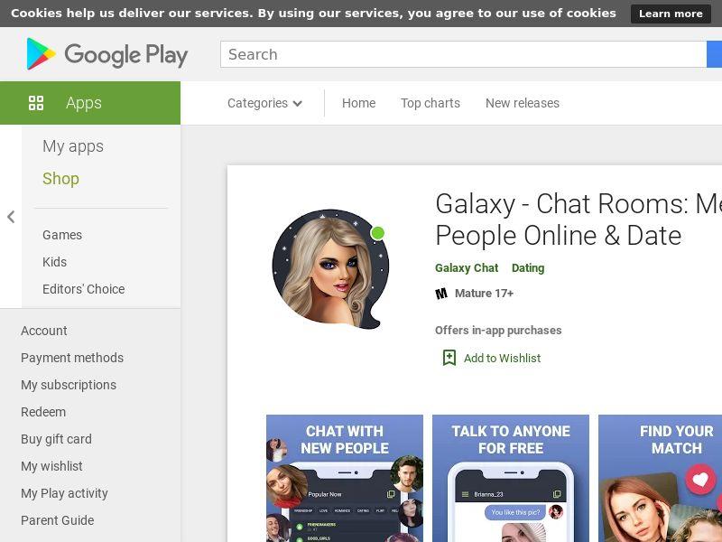Galaxy - Чат, Знакомства [Android] RU
