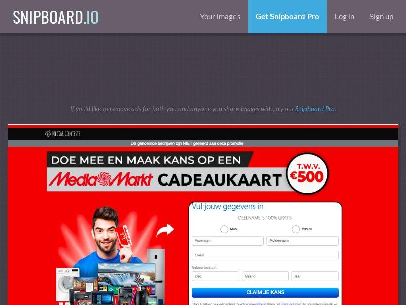 NectarContests - Media Markt Back to School (Direct LP) NL - SOI