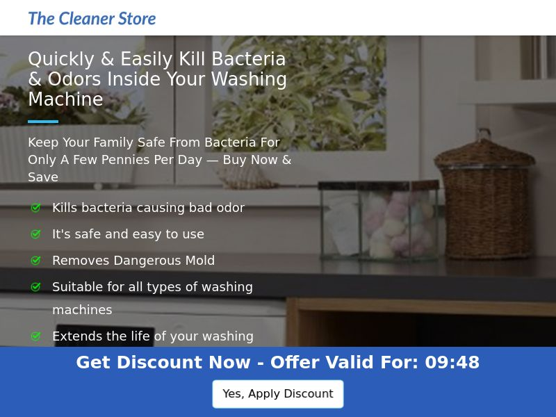 The Cleaner Store - Washing Machine Deep Cleaning Tablets - CPA - [US]