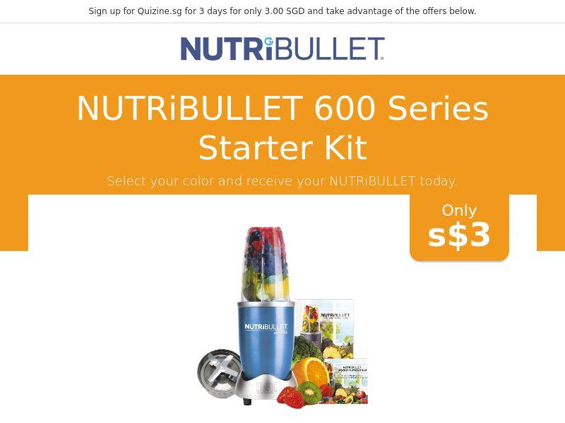 Nutribullet 600 Series Starter Kit - SG