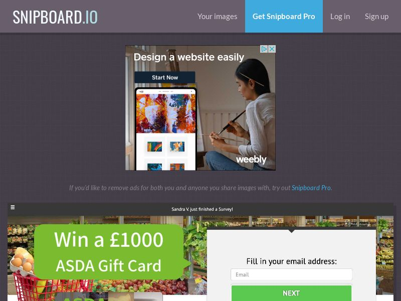 YouSweeps - £1000 Asda Giftcard UK - SOI
