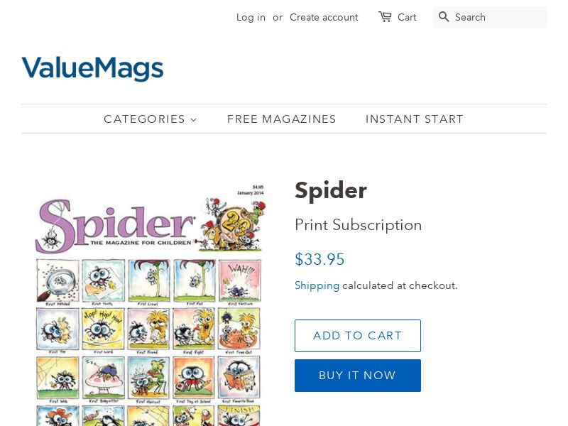 Spider the Magazine for Children - 43% Off Subscription | US