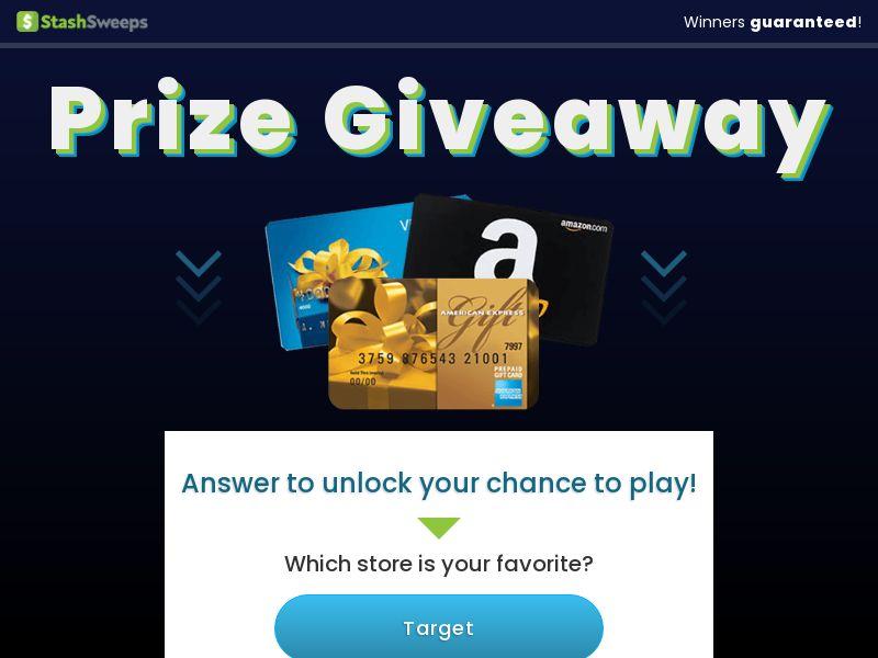 US - Stash Sweeps - $250 Amazon Gift Card [Display]