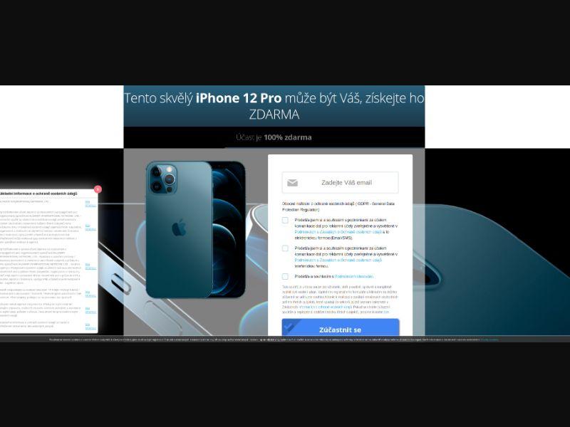 Premiumgift iPhone with prelander CZ [CZ] - SOI registration