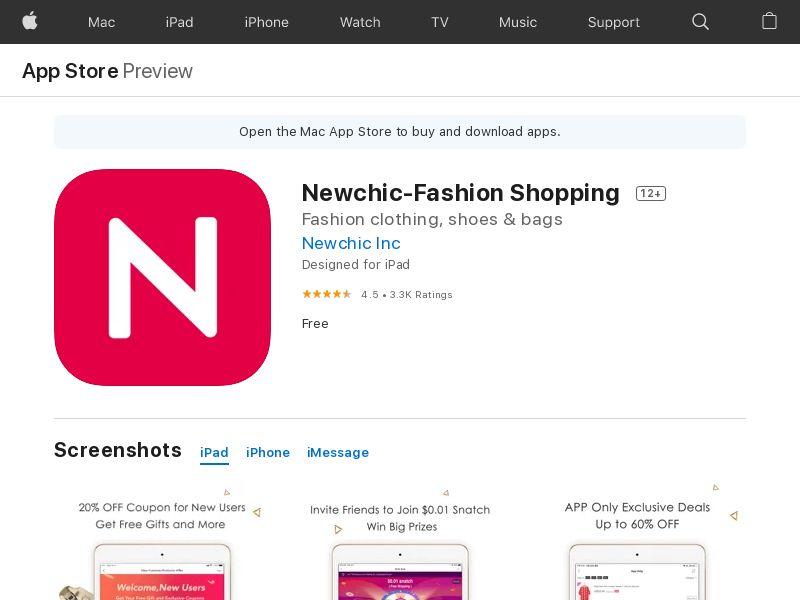 Newchic IOS UK, US