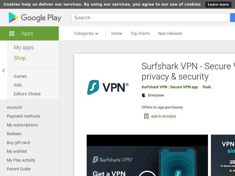 Surfshark VPN - Secure VPN for privacy & security
