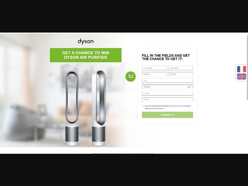 Dyson Air Purifier - Sweepstakes & Surveys - SS - [CA]