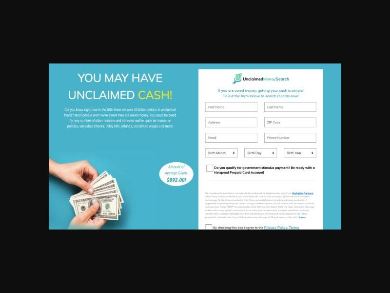 Unclaimed Money Search (US)