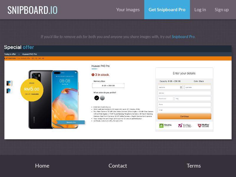 37839 - MY - OrangeViral - B - Huawei P40 Pro - CC submit