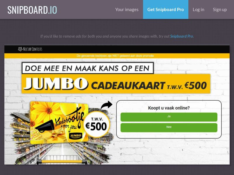 37788 - NL - NectarContests - Jumbo Giftcard $500 (With Prelander) - SOI