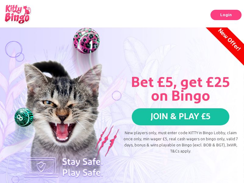 Kitty Bingo - Bet £5, Play With £25 On Bingo [UK]