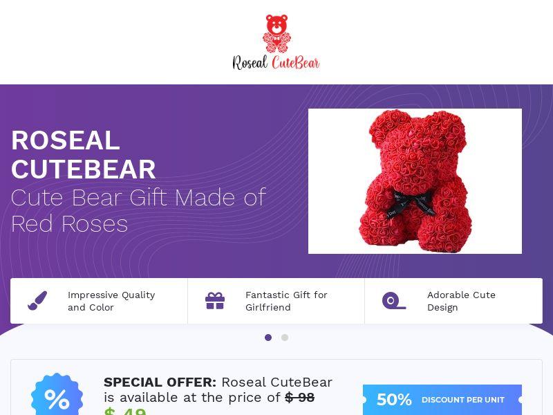 Roseal CuteBear - Gift Bear - CPA - [INTERNATIONAL]