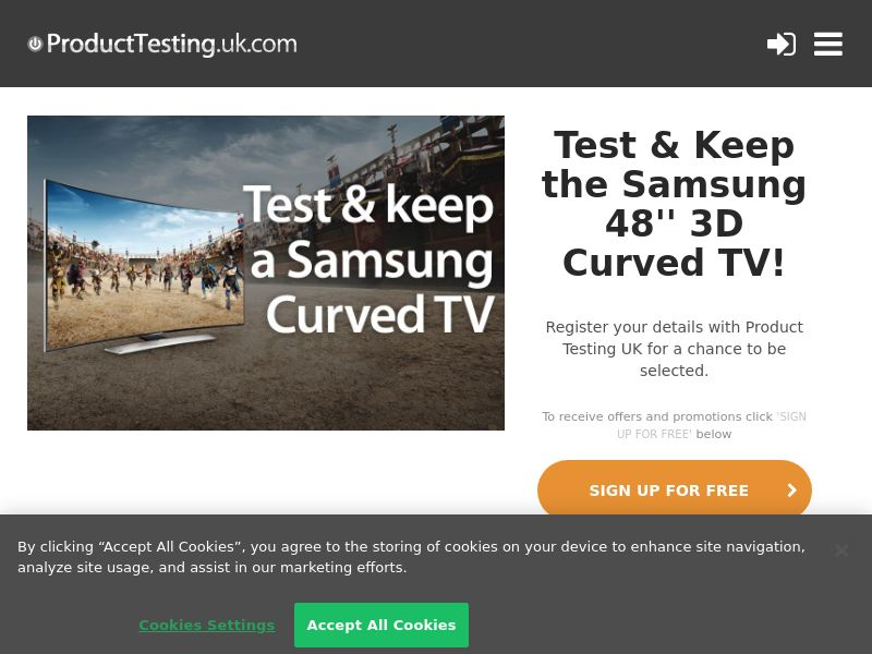 Email Submit - Samsung Curved TV - SOI (UK)