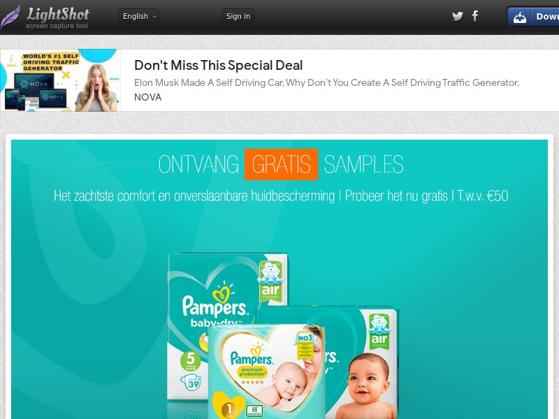 LeadsWinner - Pampers €50 Giftcard (NL) (CPL) (Personal Approval)