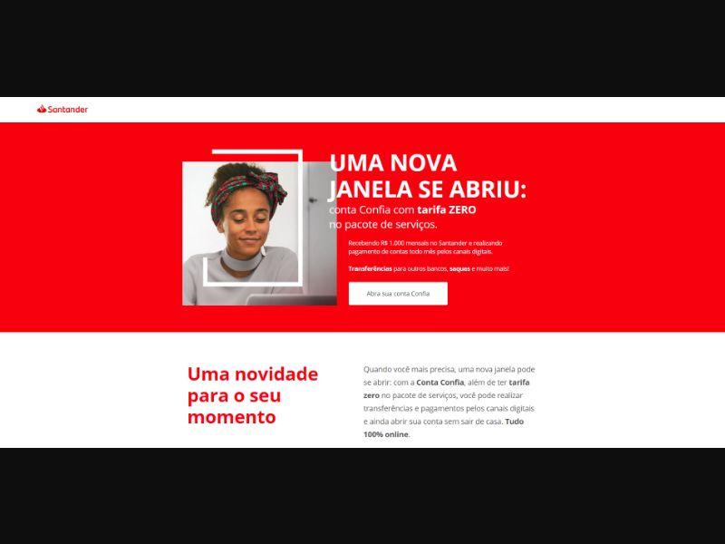 Banco Santander Open account [BR] - CPL