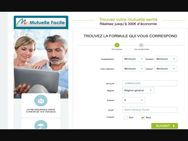 Mutuelle Facile - Email/Push - CPL