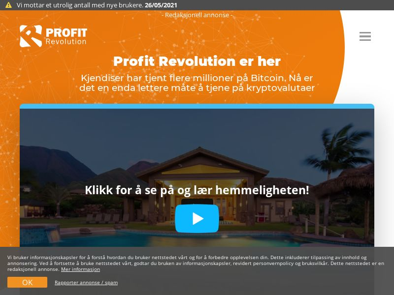 Profit Revolution NO (NO), [CPA]
