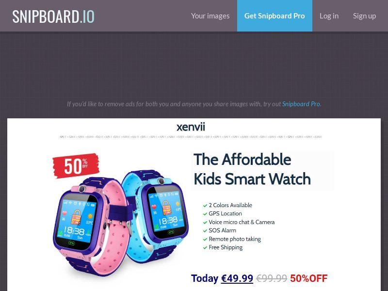 41686 - ALL - Kids Smart Watch - SS