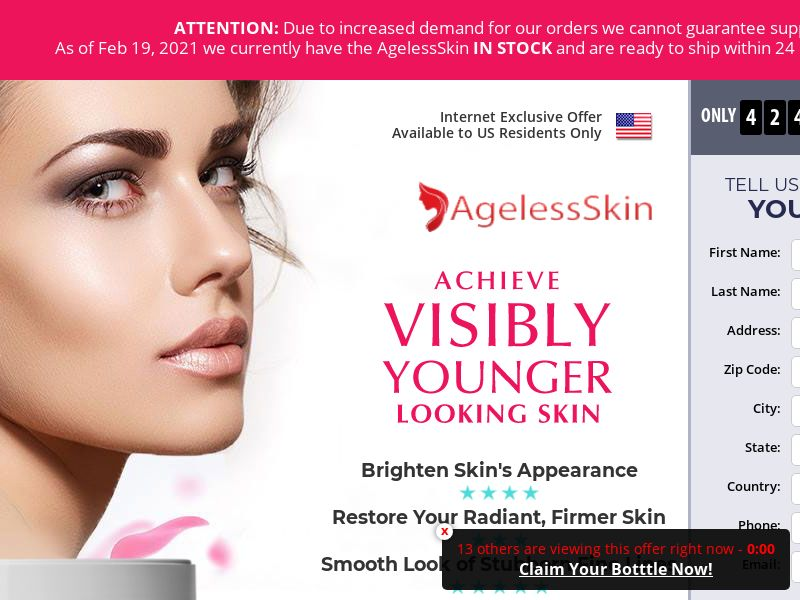Ageless Skin (CPA) (US) (SMS Allowed)