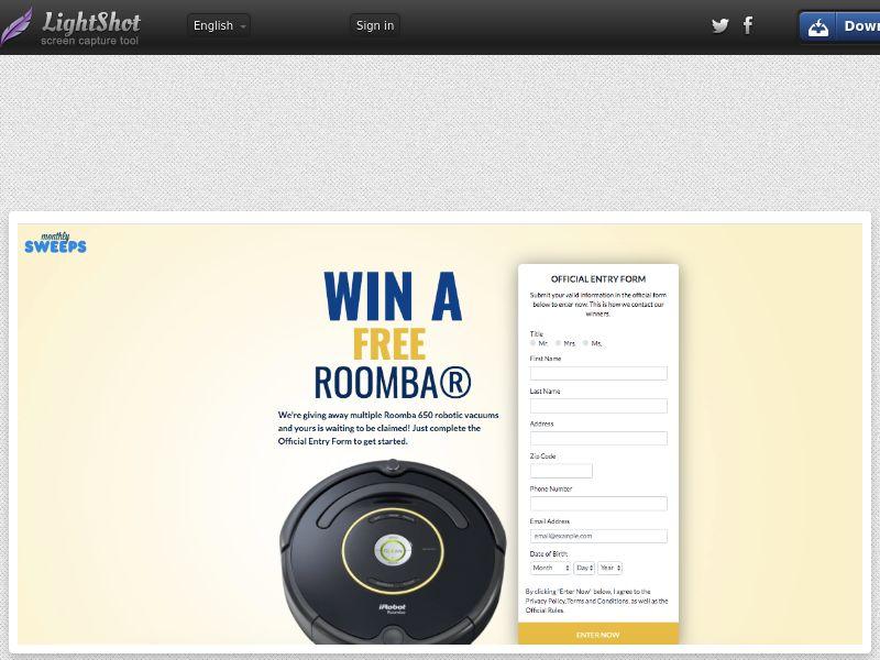 MonthlySweeps - Roomba