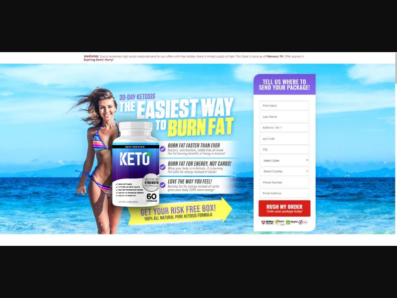 Keto Thin State - Diet & Weight Loss - SS - NO SEO - [US]
