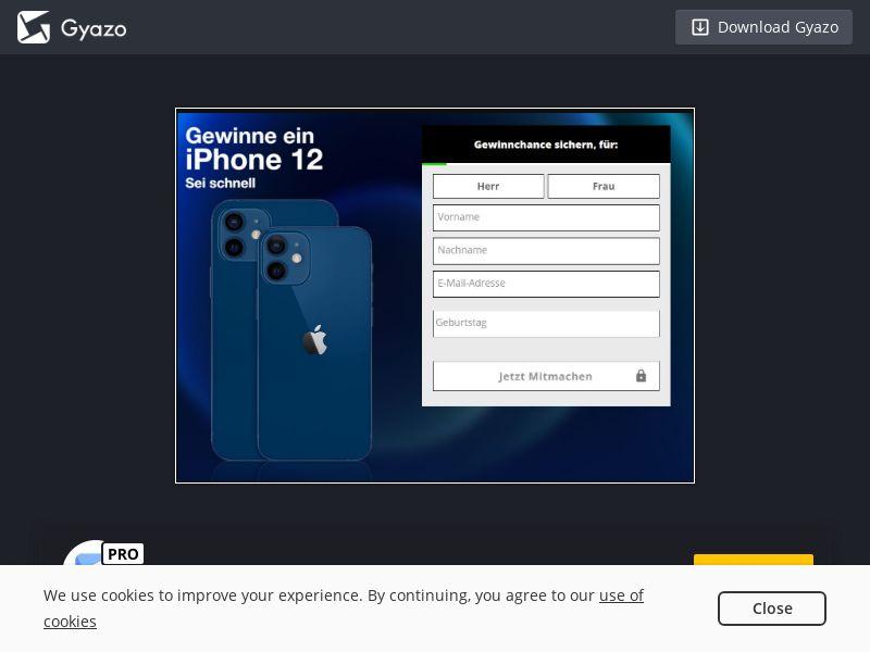 Win an iPhone 12 (DE) (CPL)