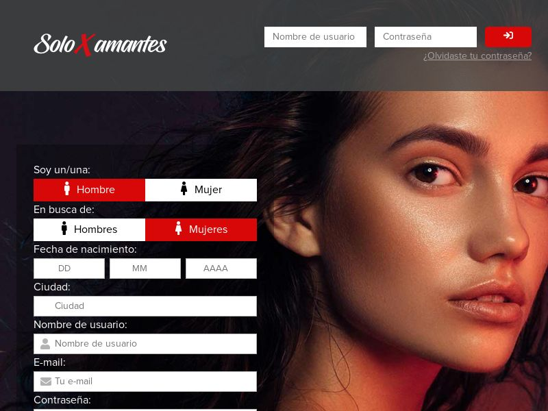 Solo Xamantes - ES (ES), [CPL], For Adult, Dating, Content +18, Double Opt-In, Email Submit, women, date, sex, sexy, tinder, flirt