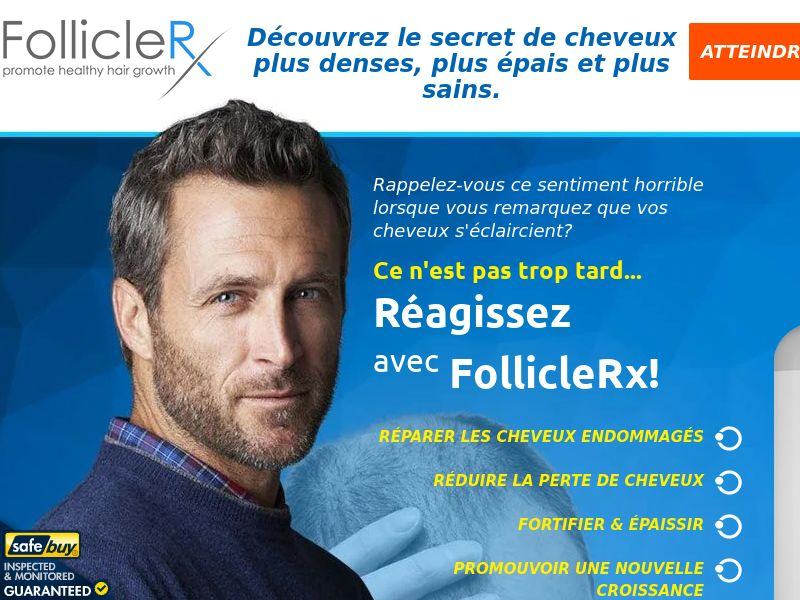 FollicleRX [MALE HAIR] - CPA - Straight Sale - France/Switzerland/Belgium