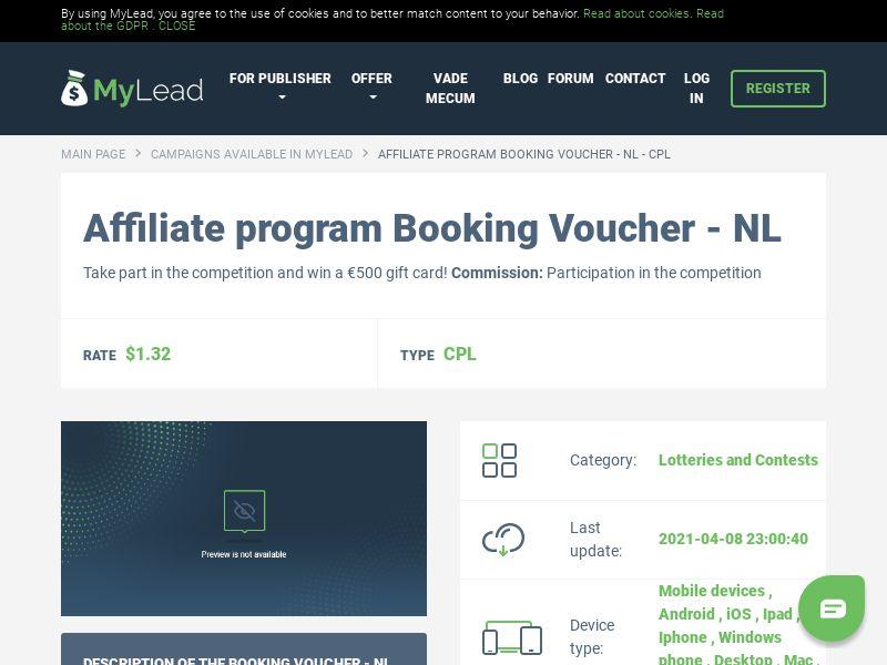 Booking Voucher - NL (NL), [CPL]
