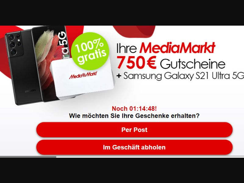 MediaMarkt 750 + Galaxy S21 2021 - [ SOI ] DE - AFF