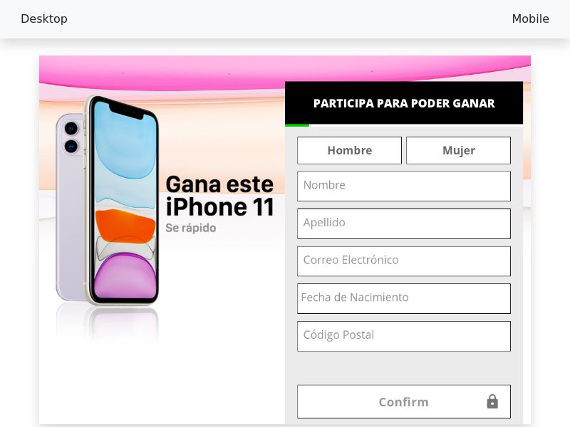 Sweepstake Win iPhone 11 - SOI CPL - [ES]