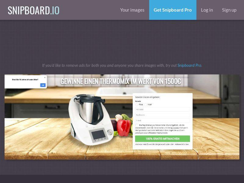 40686 - DE - MultiplePrizes - Thermomix kitchen assistant 1.500€ - SOI