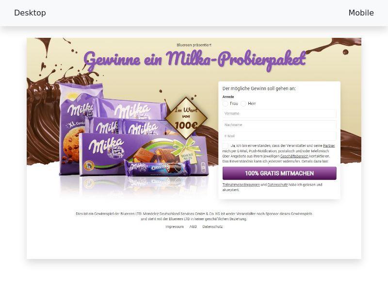 Win a Milka trial package - CPL, SOI - DE,AT,CH
