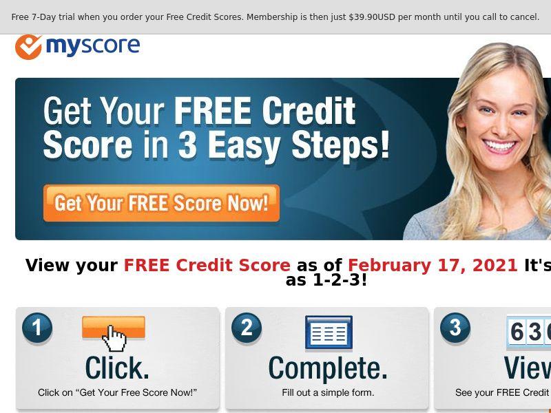 Credit Report - MyScore - myscore.com (US)