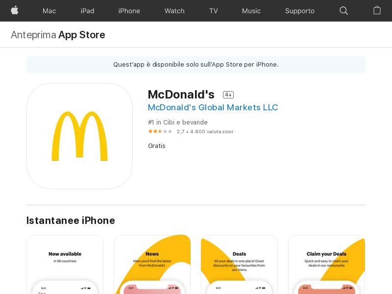 McDonalds - IT - iOS - IDFA